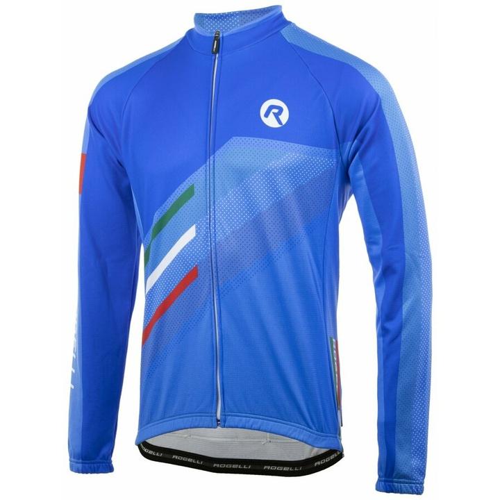voľnejšie cyklistický dres Rogelli TEAM 2.0 s dlhým rukávom, modrý 001.972