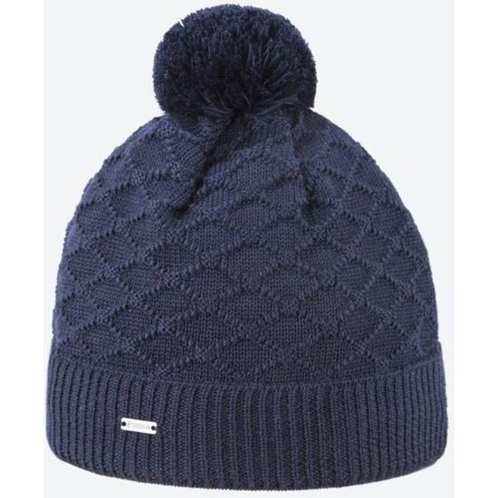 Pletená Merino čiapka Kama A124 108 tmavo modrá