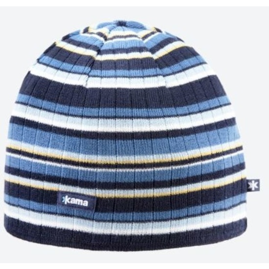 Pletená Merino čiapka Kama A129 108 tmavo modrá