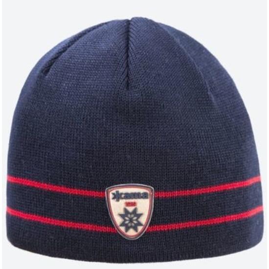 Pletená Merino čiapka Kama A133 108 tmavo modrá