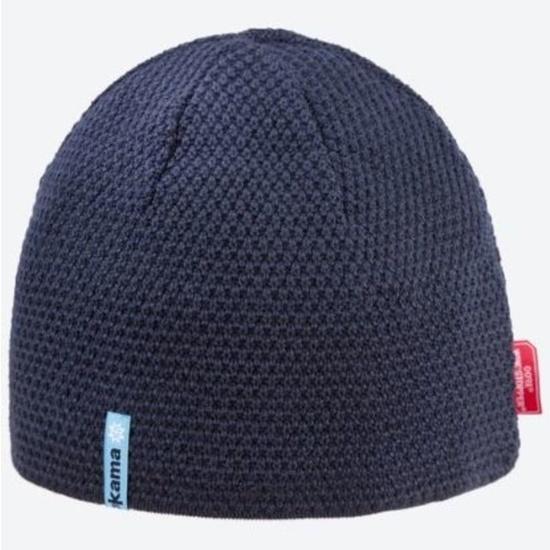 Pletená Merino čiapka Kama AW62 108 tmavo modrá