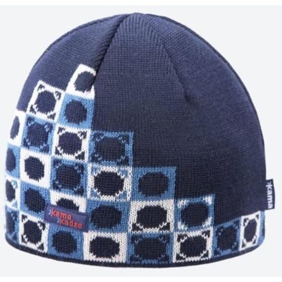 Pletená Merino čiapka Kama K57 108 tmavo modrá