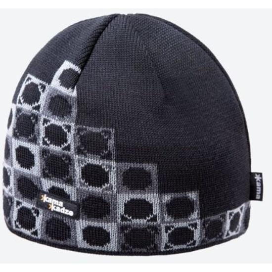 Pletená Merino čiapka Kama K57 110 čierna
