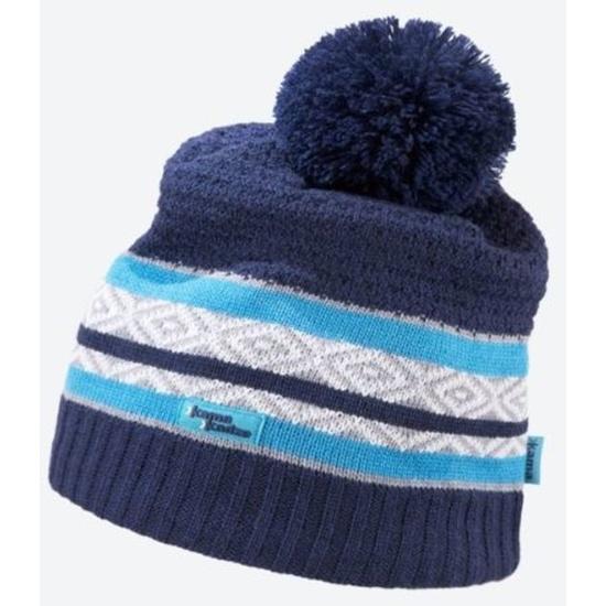 Pletená Merino čiapka Kama KW06 108 tmavo modrá M
