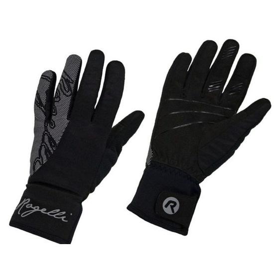 Dámske cyklistické rukavice Rogelli Flash, 010.660. čierne XS