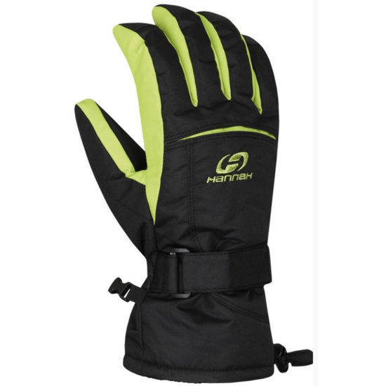 Rukavice HANNAH Brion anthracite / lime punch M
