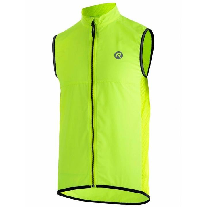 Cyklistická vesta Rogelli MOVE s priedušnými chrbtom, reflexná žltá 004.202 S