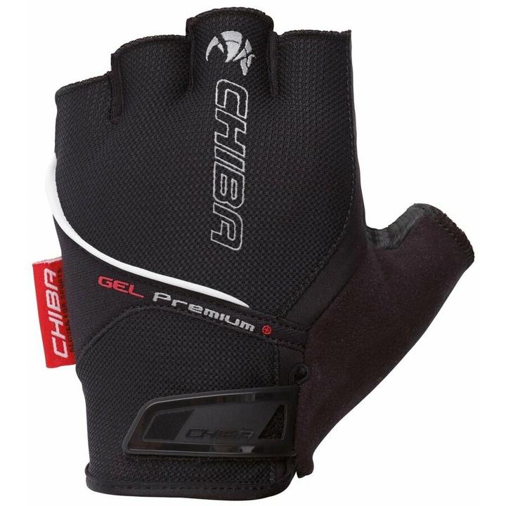 Cyklo rukavice Chiba GEL PREMIUM s gélovú dlaní, čierne 30117.10 XL