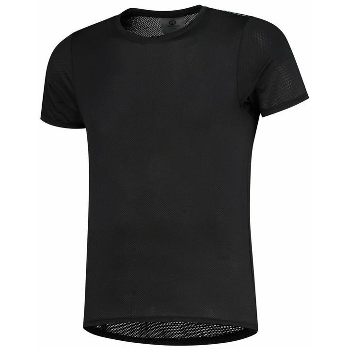 extrémne funkčnou športové tričko Rogelli KITE s krátkym rukávom, čierne 070.015 S/M