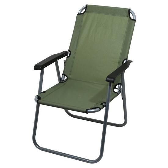 stolička kempingový skladacia Cattara LYON tmavo zelená