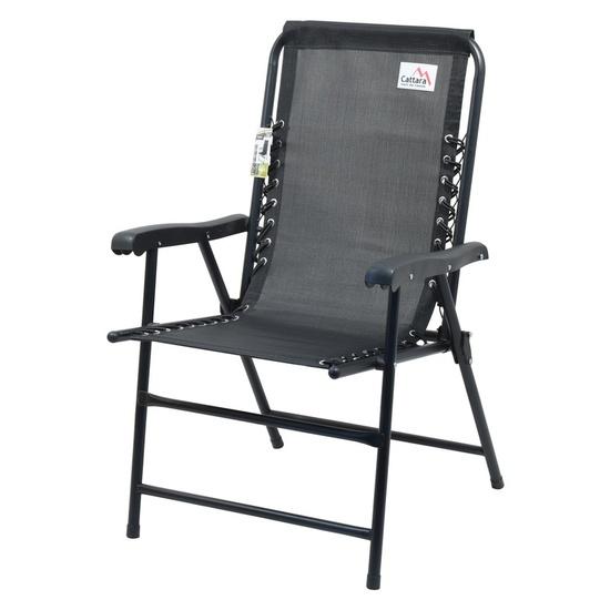 stolička záhradná skladacia Cattara TERST čierna