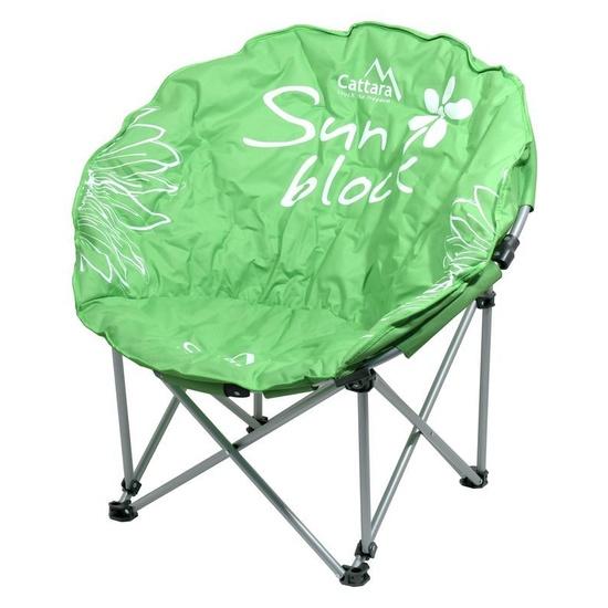 stolička kempingový skladacia Cattara FLOWERS zelená