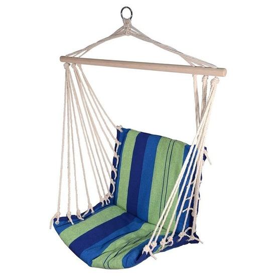 Hojdací sieť k sedenie Cattara Hammock Chair modro-zelená