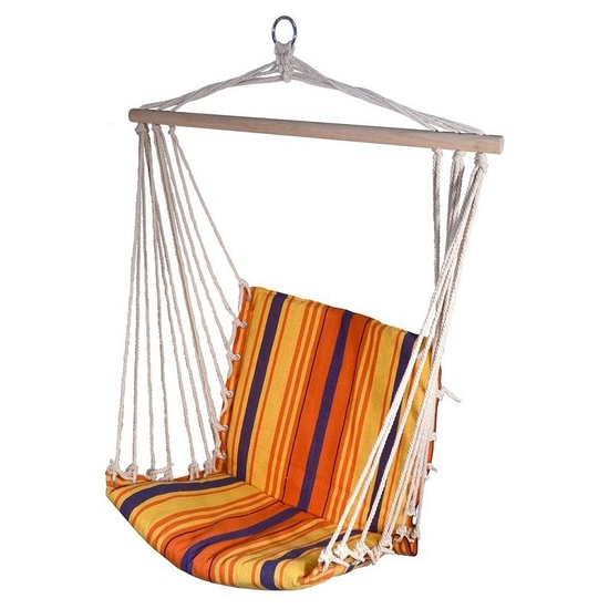 Hojdací sieť k sedenie Cattara Hammock Chair červeno-oranžová