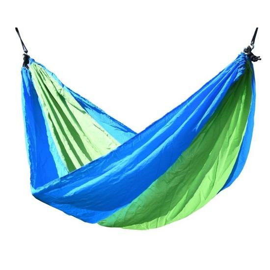 Hojdací sieť k sedenie Cattara NYLON 275x137cm zeleno-modrá
