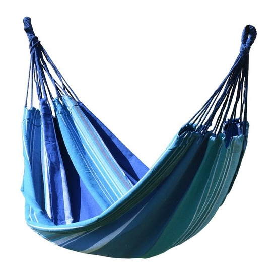 Hojdací sieť k sedenie Cattara TEXTIL 200x100cm modro-biela