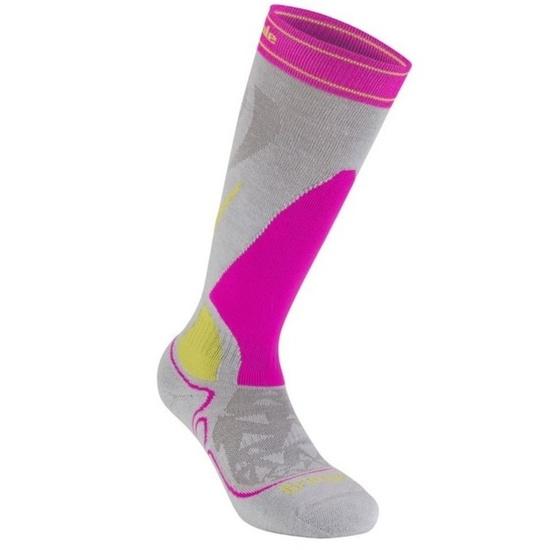 Ponožky Bridgedale Ski Midweight Women's gray/pink/823 L (7-8,5)