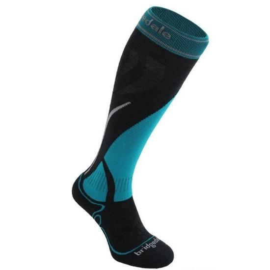 Ponožky Bridgedale Ski Midweight Women's gunmetal/turquoise/004 L (7-8,5)