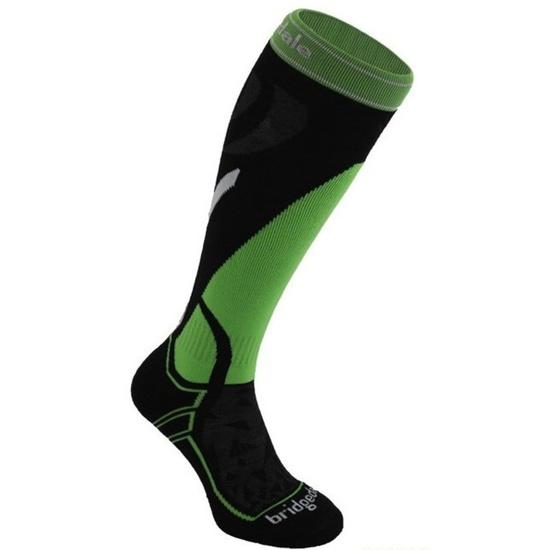 Ponožky Bridgedale Ski Midweight black/green/843 M (6-8,5) UK