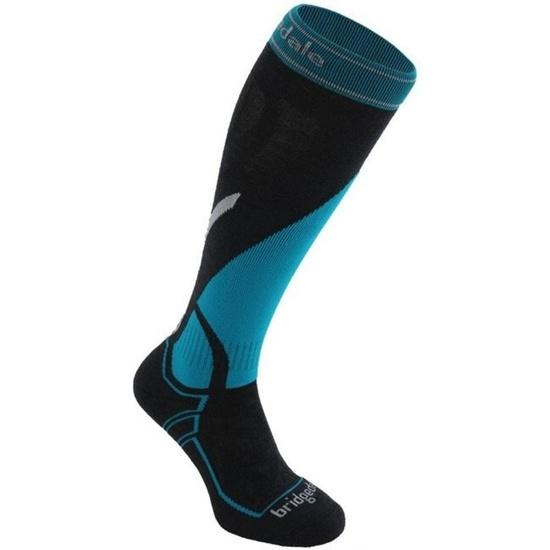 Ponožky Bridgedale Ski Midweight gunmetal/blue/003 M (6-8,5) UK