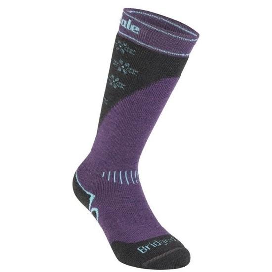Ponožky Bridgedale Ski Midweight light grey/graphite/133 S (3-4,5)