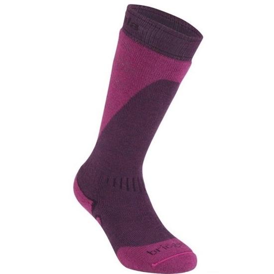 Ponožky Bridgedale Ski Midweight light plum/berry/351 S (3-4,5)