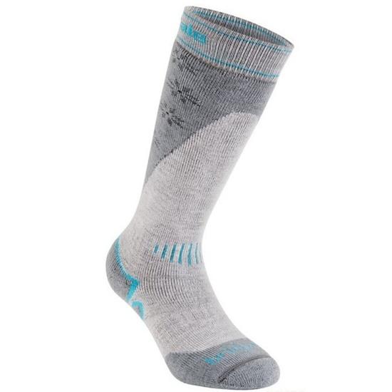 Ponožky Bridgedale Ski Midweight light stone/grey/040 M (5-6,5)