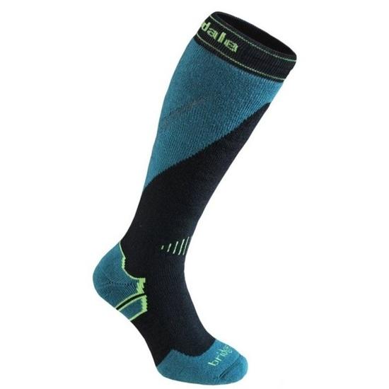 Ponožky Bridgedale Ski Midweight+ black/green/843 M (6-8,5) UK