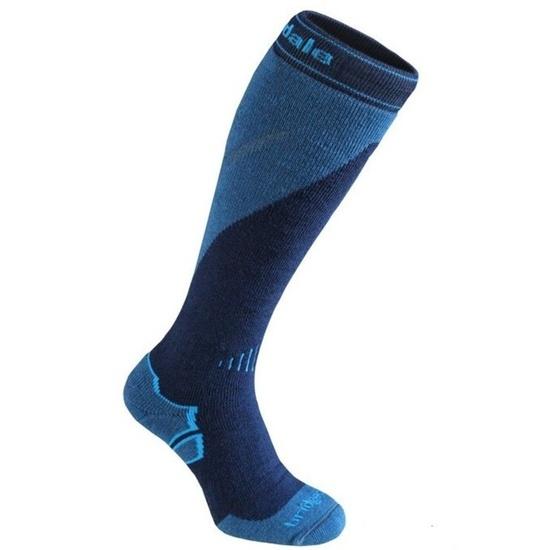 Ponožky Bridgedale Ski Midweight+ navy/steel/039 M (6-8,5) UK