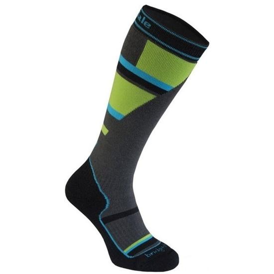 Ponožky Bridgedale Ski Mountain Junior grey/green/068 M (12-1)