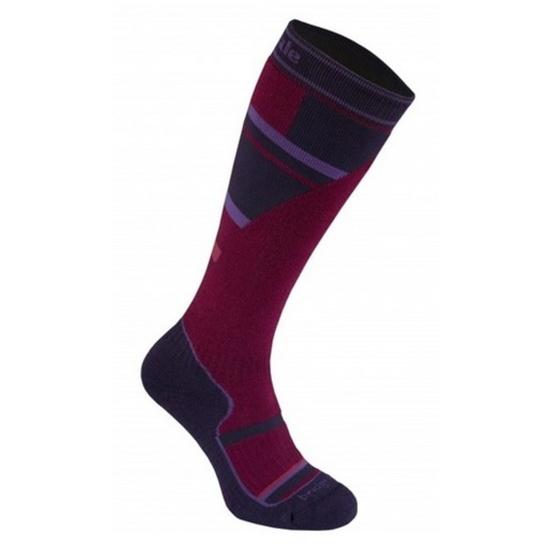 Ponožky Bridgedale Ski Mountain Junior purple/grey/070 M (12-1)