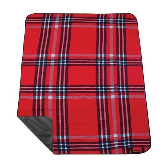 Pikniková deka s popruhom Spokey PICNIC HIGHLAND, červená