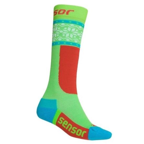 Ponožky Sensor Thermosnow NORWAY zelená biela 18200065 3/5 UK