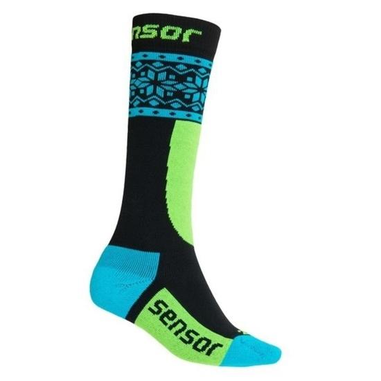 Detské ponožky Sensor Thermosnow NORWAY čierna / modrá 18200064 3/5 UK