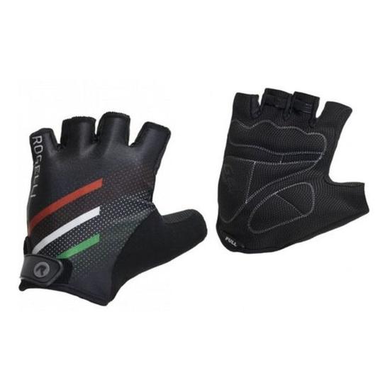 Cyklistické rukavice Rogelli TEAM 2.0, čierne 006.959. S