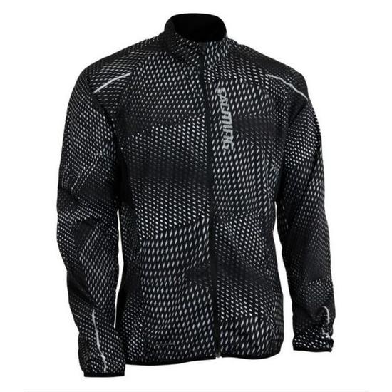 Bunda Salming Ultralite Jacket 3.0 Men Black All Over Print S