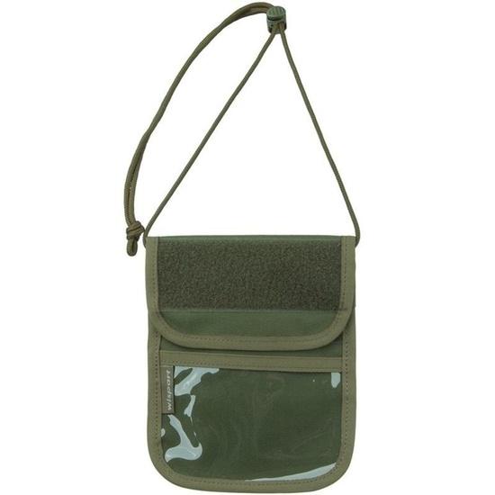 Púzdro na doklady - peňaženka na krk Wisport® Patrol - olivovo zelené