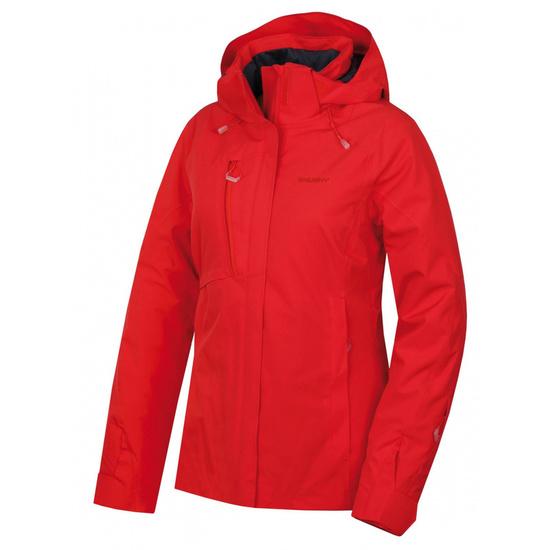Dámska hardshell plnená bunda Husky Gonzalo L jemne červená L