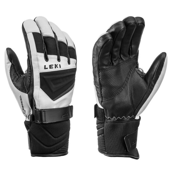 Rukavice LEKI Griffin S 649809304 white / black / graphite 7