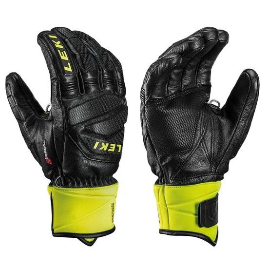 Rukavice LEKI Worldcup Race Downhill S 649806301 black / ice / lemon 7