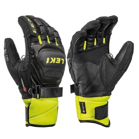 Rukavice LEKI Worldcup Race Coach Flex S GTX 649805301 black / ice / lemon 7