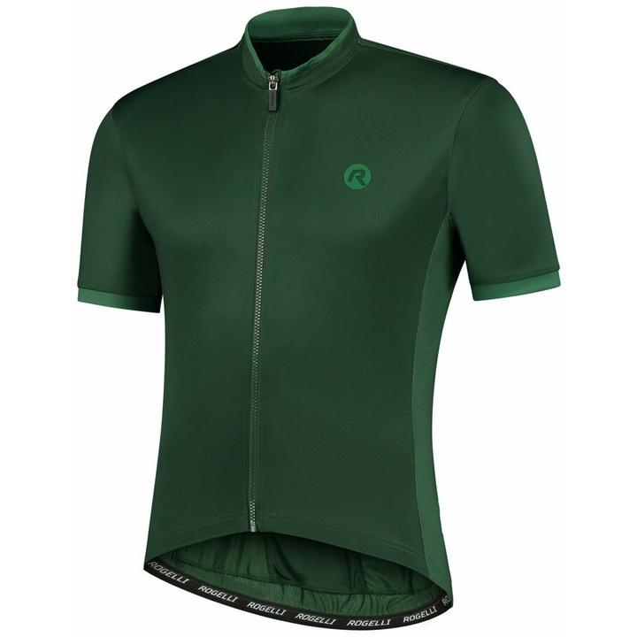 Dres na kolo Rogelli ESSENTIAL s krátkym rukávom, zelený 001.109