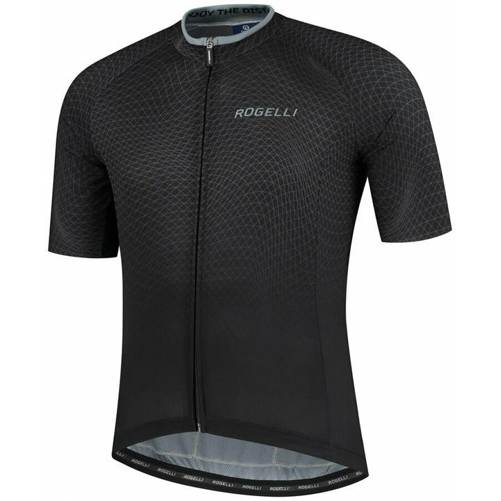minimalistický cyklodres Rogelli WEAVE s krátkym rukávom, čierno-šedý 001.330