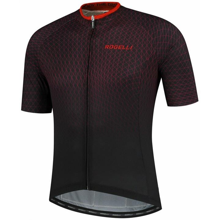 minimalistický cyklodres Rogelli WEAVE s krátkym rukávom, čierno-červený 001.332