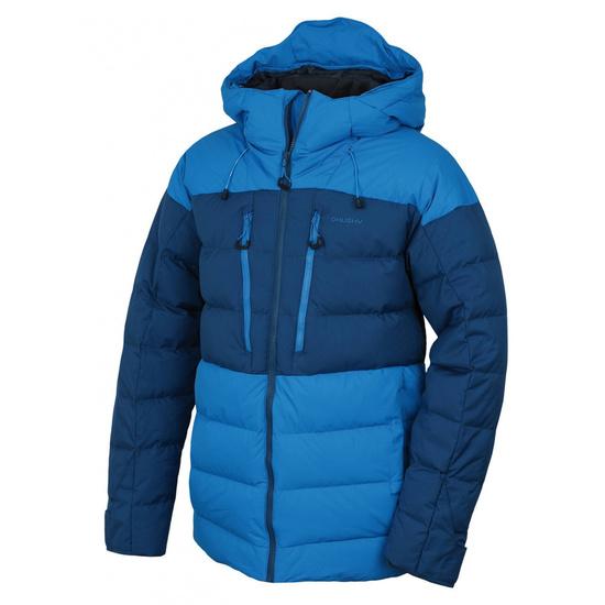Pánska páperová bunda Husky Dester M modrá / tm.modrá M