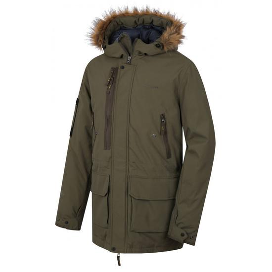 Pánsky kabát Husky Nelidas M tm. khaki M