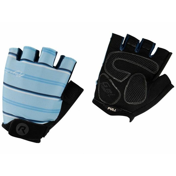 Dámske rukavice na kolo Rogelli STRIPE, svetlo modro-modré 010.620 XS