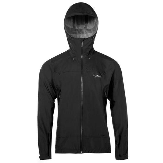 Pánska bunda Rab Downpour Plus Jacket black M