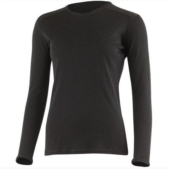 Dámske vlnené triko Lasting BELA 9090 čierne XL