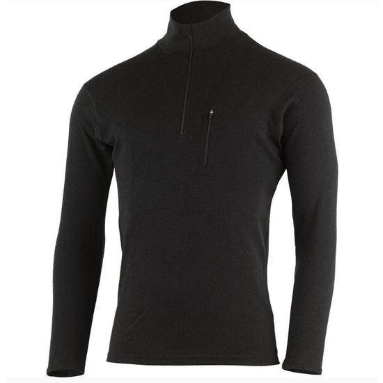 Pánske vlnené triko Lasting Brendy 9099 čierne XXL